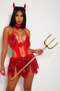 Sinful Red Sequin Devil Costume