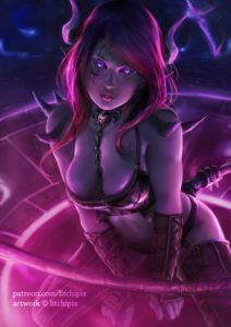 Night Creatures : The Succubus by Litchipix