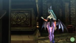 Morrigan Aensland in Bayonetta Video Game Setting