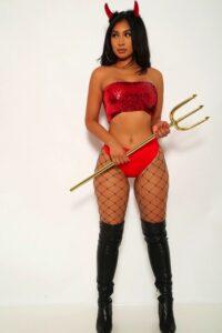 Red Sexy Devil 2 Piece Costume