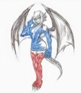 Succubus Sketch by BriskDraw
